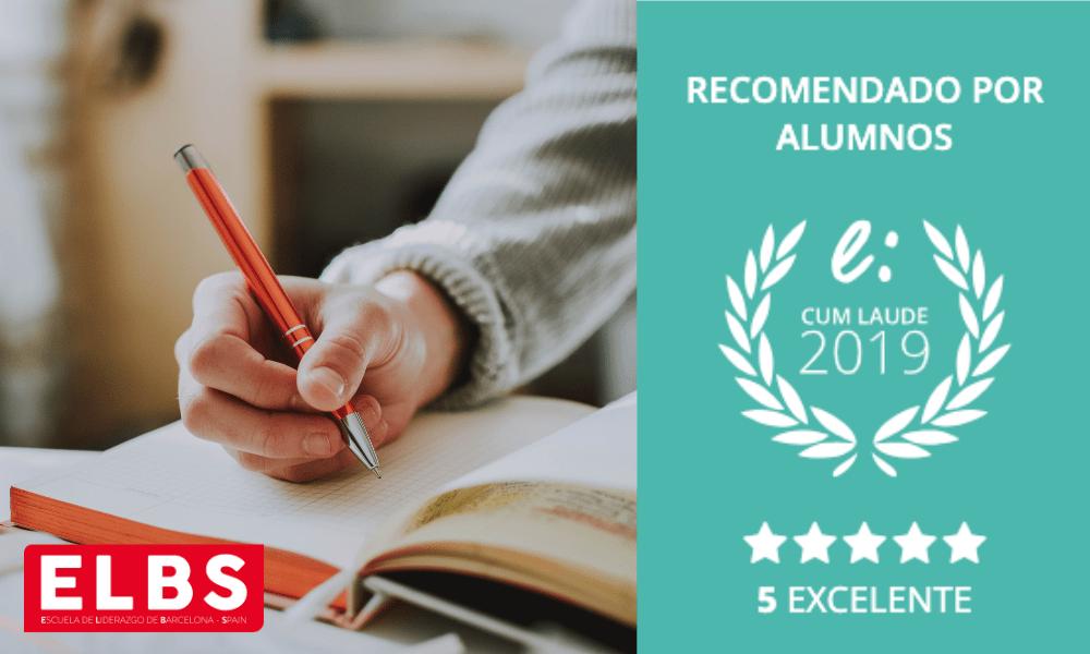 Excelentes opiniones escuela ELBS otorgan el Sello Cum Laude 2019